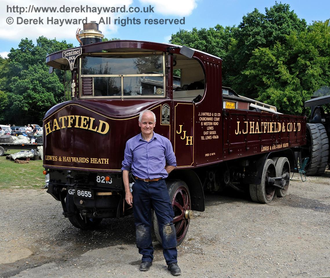 Best Steam Powered Vehicle was a Sentinel DG6, GF8655, owned by Jim Hatfield.  Vintage Transport Weekend, Horsted Keynes, 14.08.2016  16186