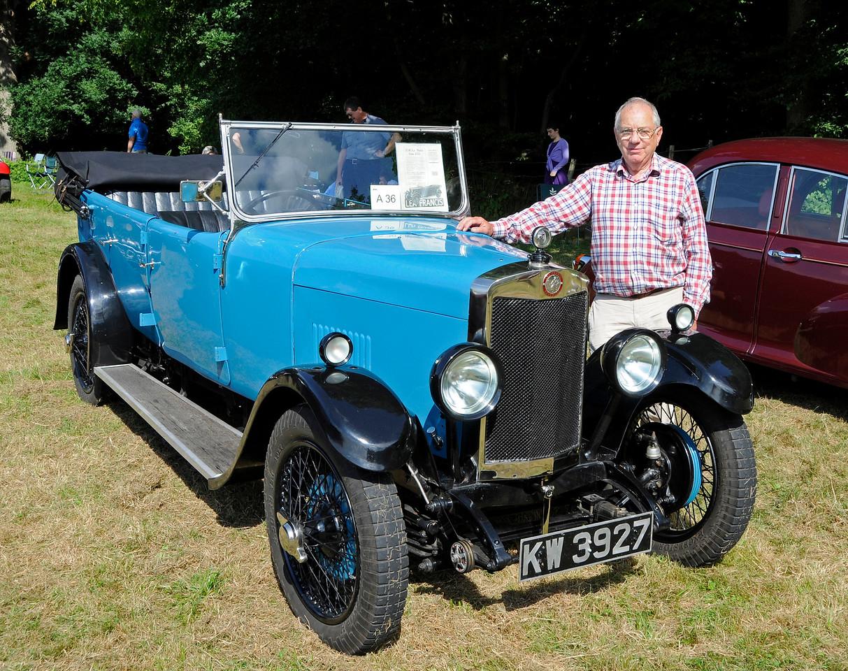 Best Pre-War Car was a Lea Francis, KW3927, owned by Geoff Elster.  Vintage Transport Weekend, Horsted Keynes, 14.08.2016  16244