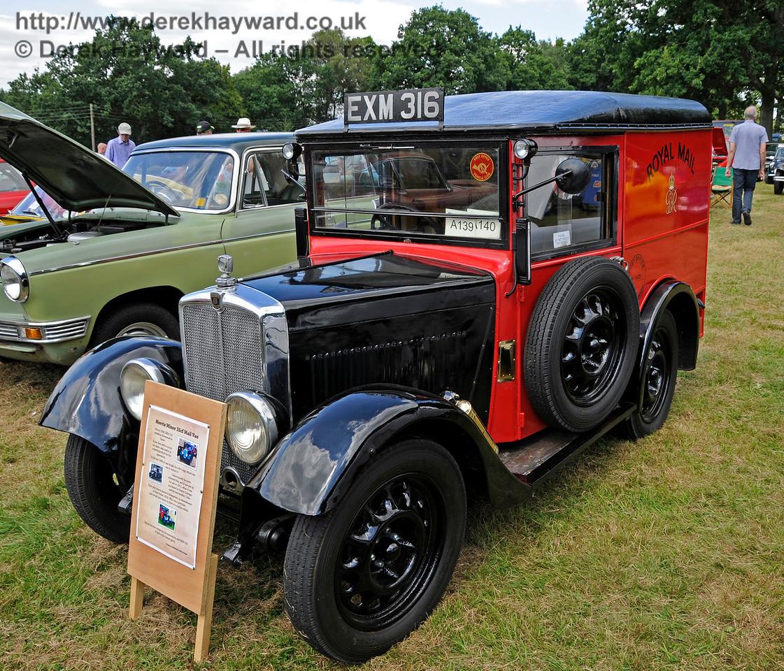 Best Commercial Vehicle was a Morris Minor 35CF Mail Van, EXM316, owned by Simon Grainger.  Vintage Transport Weekend, Horsted Keynes, 14.08.2016  16171