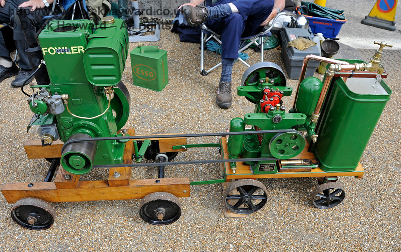 The winner of Best Stationary Engine was Michael Drew for his Fowler Engine and Laycock Water Pump.  Vintage Transport Weekend, Horsted Keynes, 14.08.2016  15966