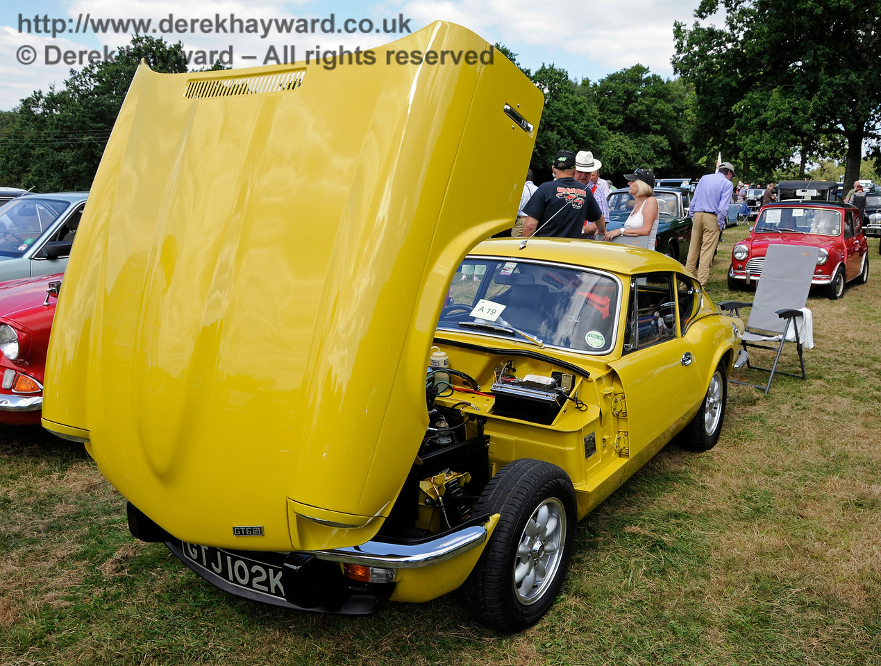 Highly Commended in the Cars was a GT6 Mk3, GTJ102K, owned by Ian and Christine Gordon.  Vintage Transport Weekend, Horsted Keynes, 14.08.2016  16173