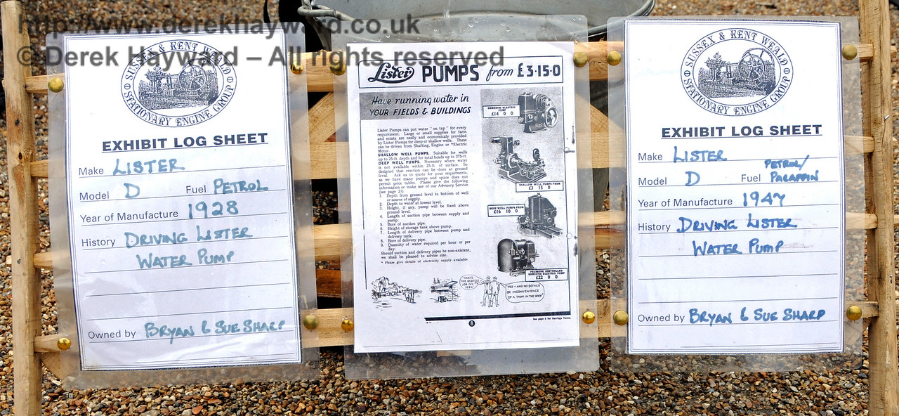 Highly Commended in the Stationary Engine category was Bryan Sharp for his Lister Water Pump.  Vintage Transport Weekend, Horsted Keynes, 14.08.2016  15979