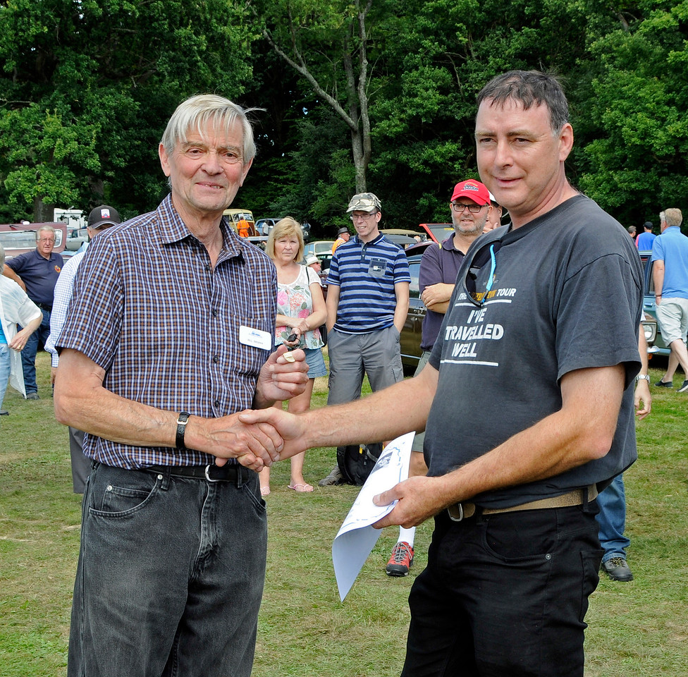 Highly Commended in the Post-War Motor Cycle category was HRD Vincent, MXF387, owned by Malcolm Fry.  Vintage Transport Weekend, Horsted Keynes, 14.08.2016  16216