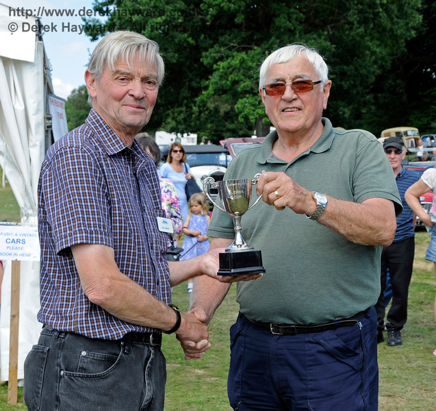 The winner of Best Stationary Engine was Michael Drew for his Fowler Engine and Laycock Water Pump.  Vintage Transport Weekend, Horsted Keynes, 14.08.2016  16206