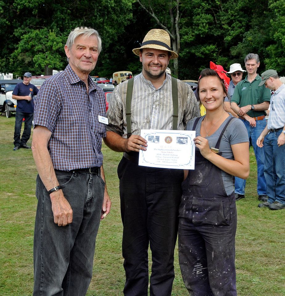Highly Commended in the Steam Powered Vehicle category was an Aveling & Porter Road Roller, ME2103, owned by Matt and Lucy Webber. Vintage Transport Weekend, Horsted Keynes, 14.08.2016  16225