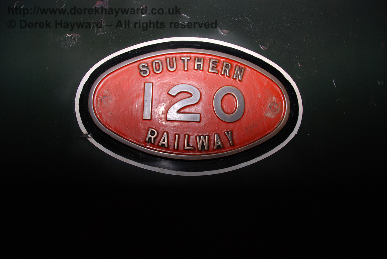 The number plate on LSWR Greyhound T9 120.  01.01.2007