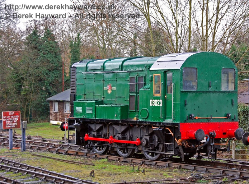 D3023 at Sheffield Park on 25.02.2007. This locomotive has now left Bluebell.