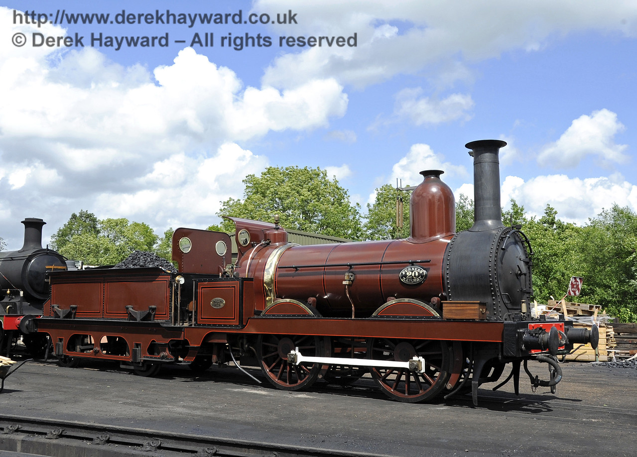 Furness Railway No.20 on shed at Sheffield Park.  16.06.2012  5116