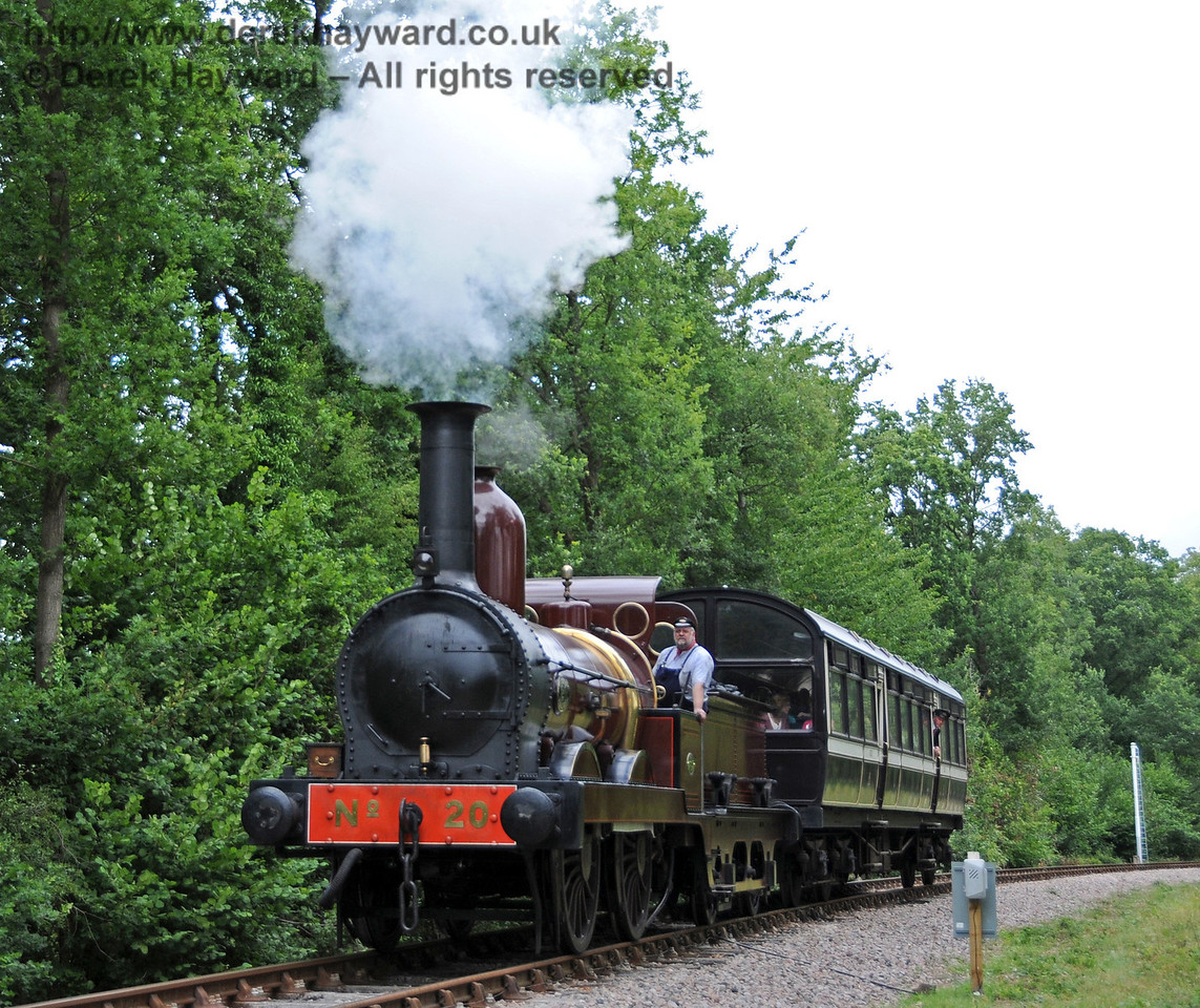 Furness Railway No.20 approaches Kingscote with the Imberhorne to Kingscote shuttle. 07.08.2010  3769