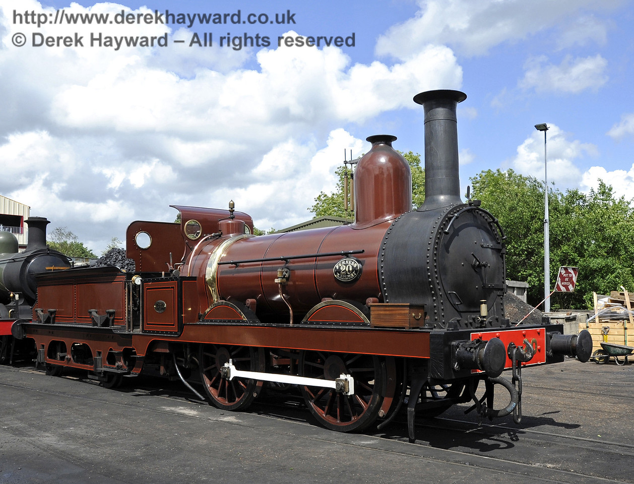 Furness Railway No.20 on shed at Sheffield Park.  16.06.2012  5115