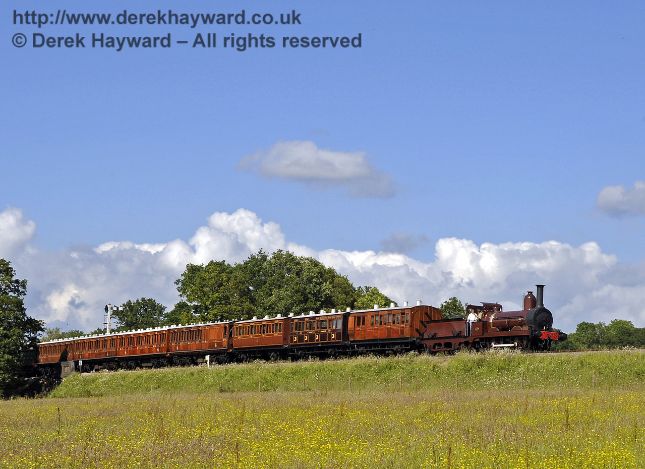 Furness Railway No.20 hauling empty stock from a private filming charter at New Road Bridge. 19.06.2012  5195