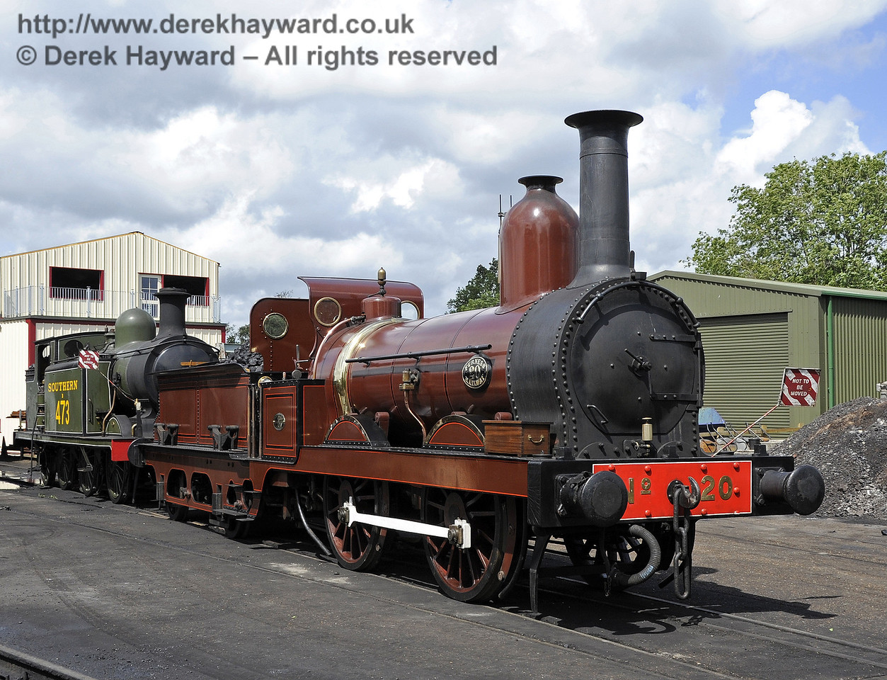 Furness Railway No.20 on shed at Sheffield Park.  16.06.2012  5114