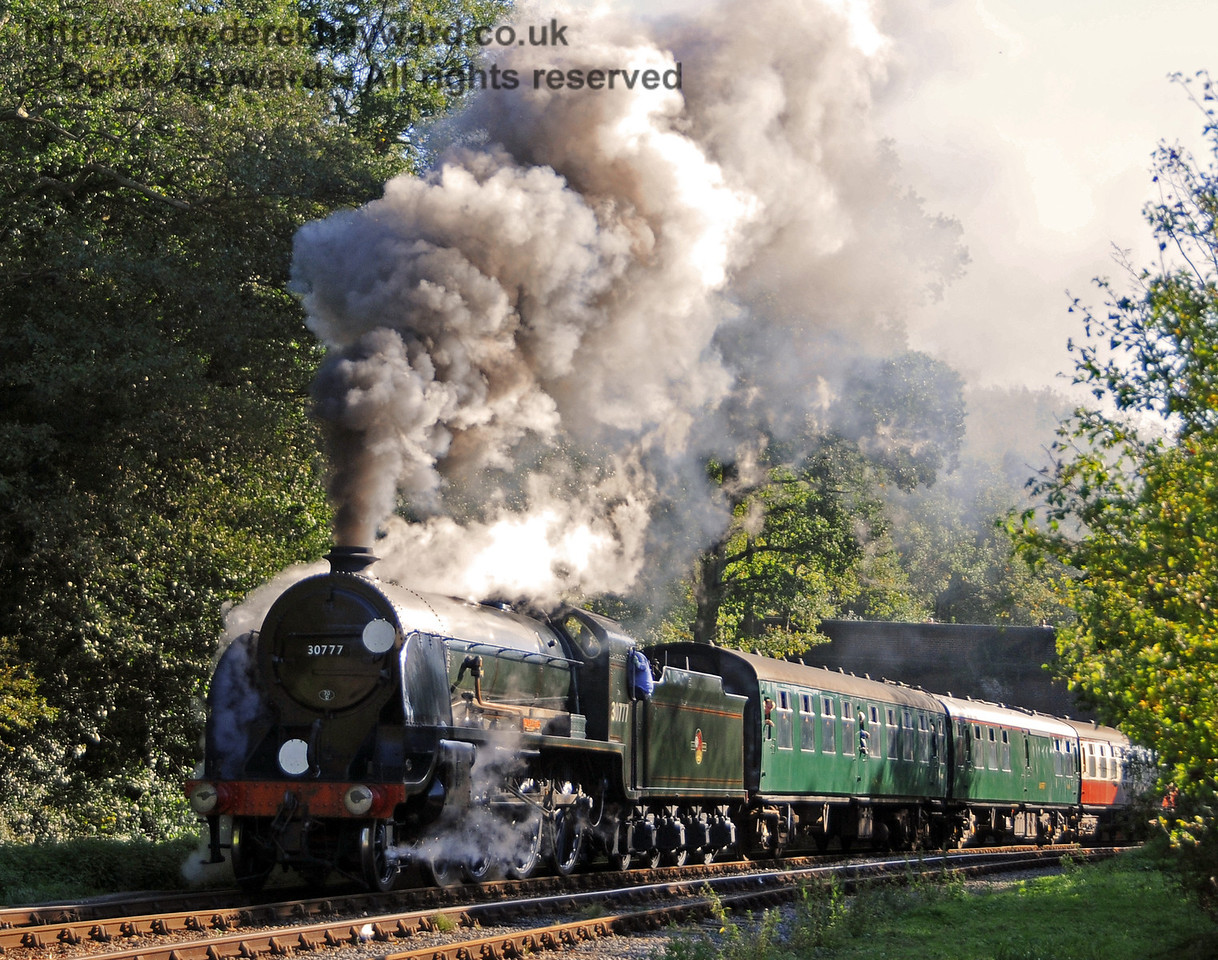 30777 Sir Lamiel steams north from Leamland Bridge. 10.10.2010  5102