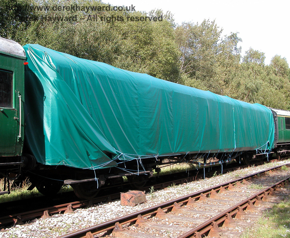 Trailer Third 10096 from 3142, is also stored at Shepherdswell, but is not watertight.  This shot was taken on 19.09.2006