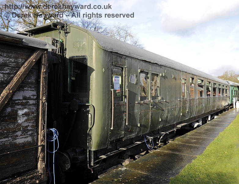 Motor coach 11201 from 4-COR 3142 at Horsted Keynes on 21.12.2012 in a rather tired condition.  6030