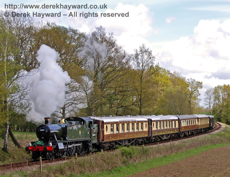 The first official working behind 5199 was a Pullman private charter, which ran as the Sussex Belle. 01.05.2008