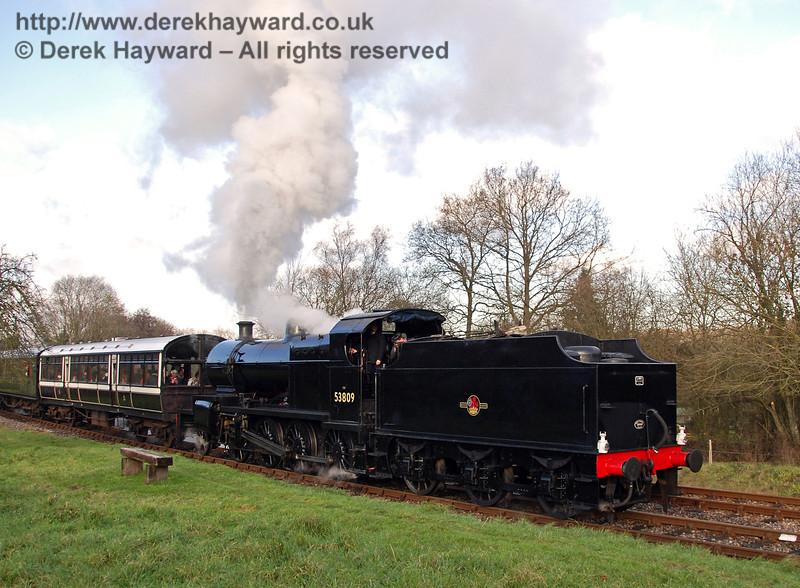 53809 leaves Kingscote. 06.12.2008