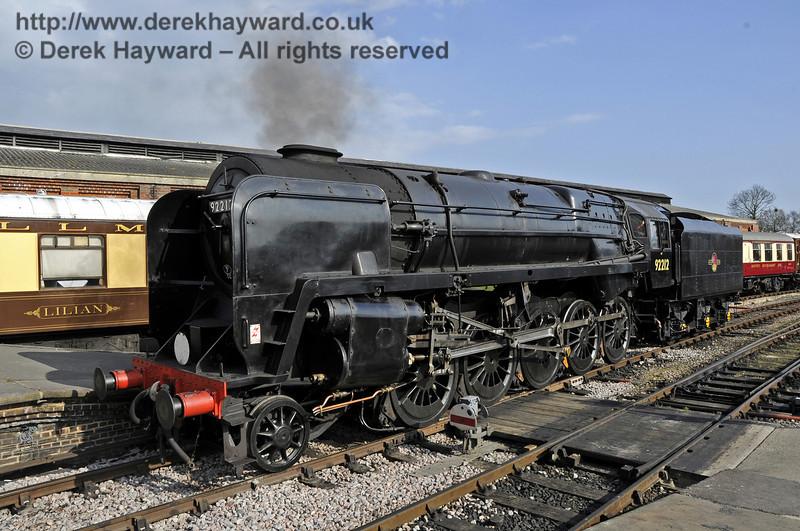 92212 on test at Sheffield Park prior to entering passenger service.  03.04.2012  4248