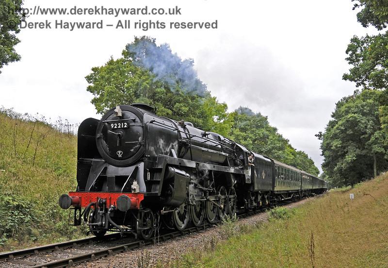 92212 steams past Horsted House Farm.  22.09.2013  9746