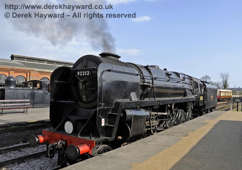 92212 on test at Sheffield Park prior to entering passenger service.  03.04.2012  4238