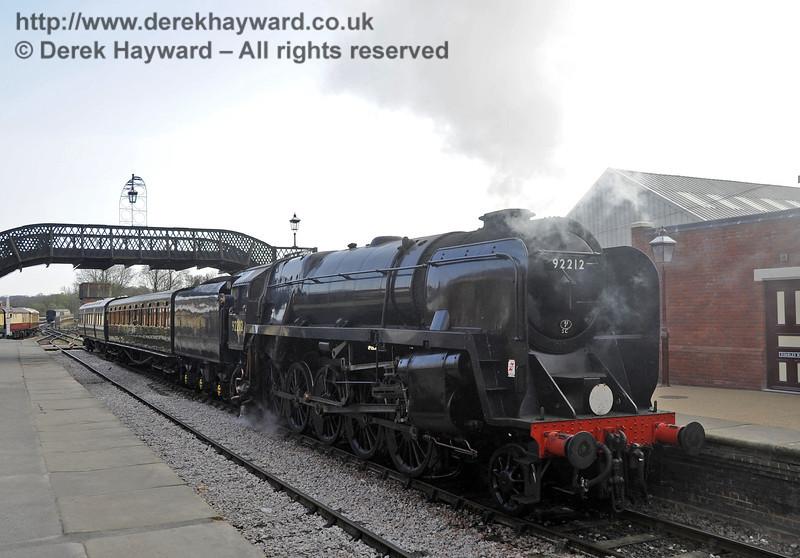92212 on test at Sheffield Park prior to entering passenger service.  03.04.2012  4256