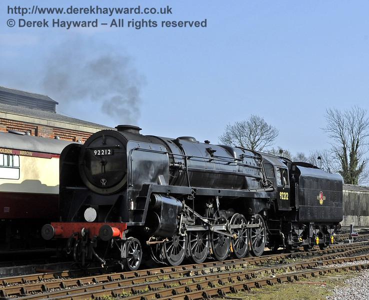 92212 on test at Sheffield Park prior to entering passenger service.  03.04.2012  4246