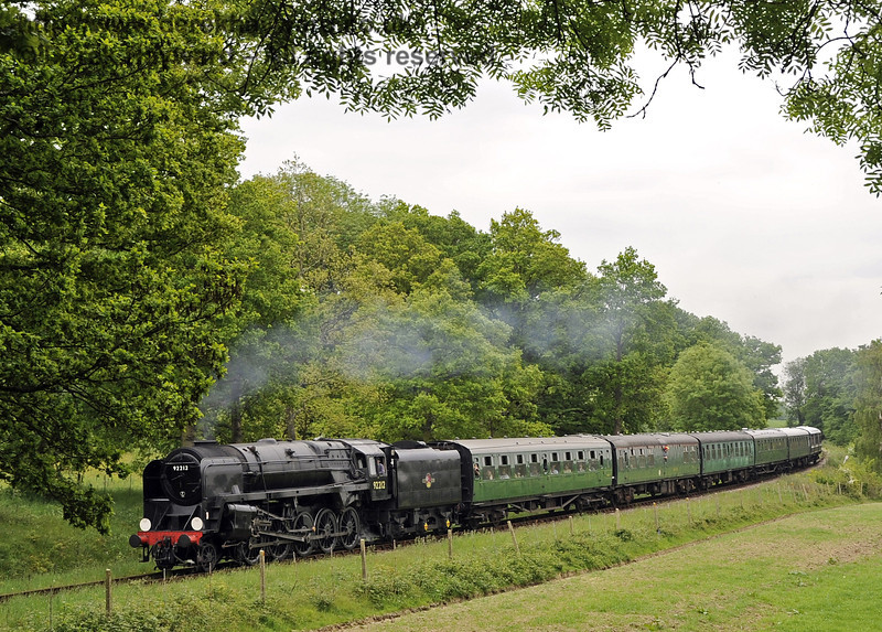 92212 steams towards the ruined Town Place Farm Bridge.  01.06.2013  7157