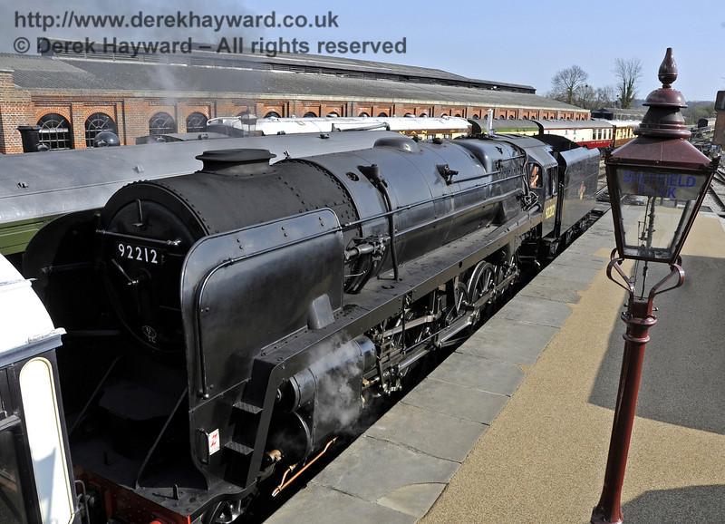 92212 on test at Sheffield Park prior to entering passenger service.  03.04.2012  4237
