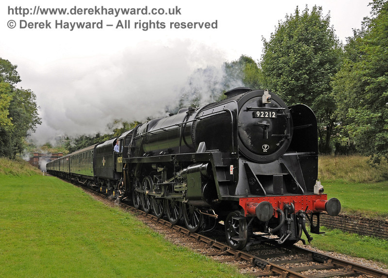 92212 passes through the site of the former West Hoathly Station.  22.09.2013  9745