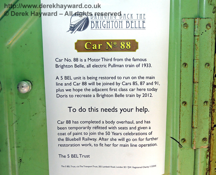 Details about the project involving Car 88. Horsted Keynes 08.08.2010  3851