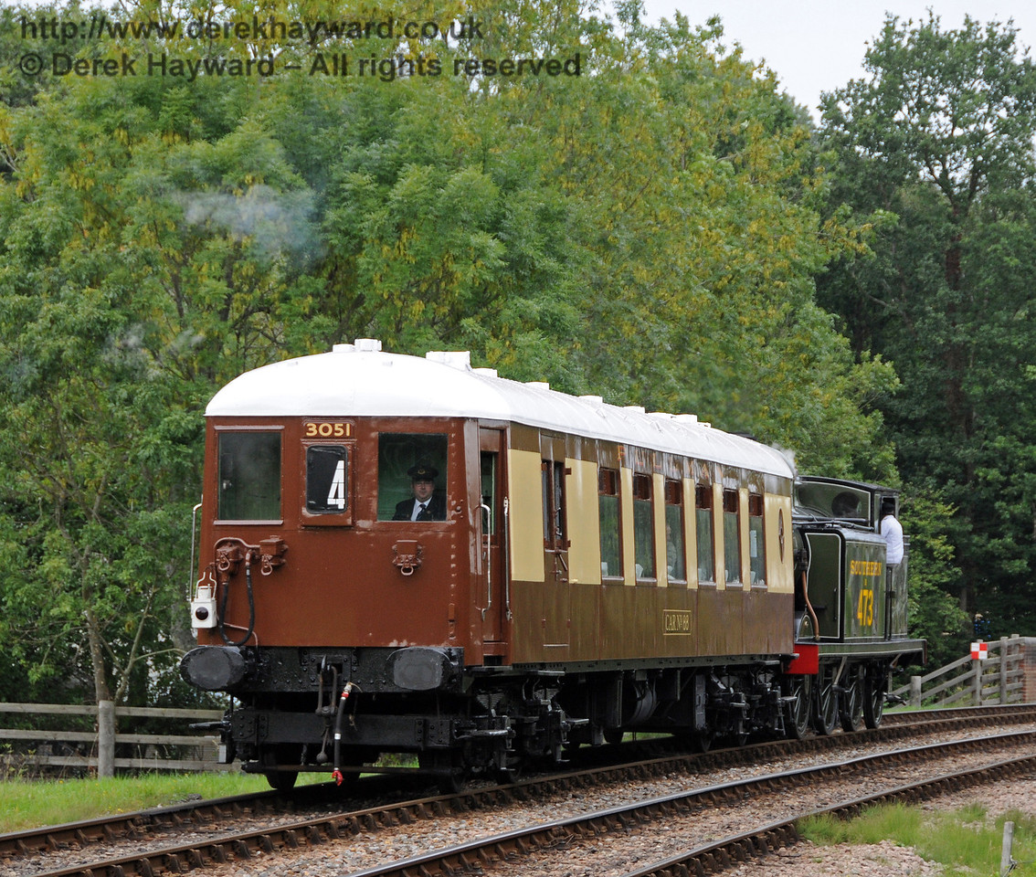 Car number 88 from 5-BEL 3051 approaching Kingscote on a private charter. 05.09.2010  4564