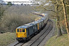"""73207 and 73119 """"Borough of Eastleigh"""" bring up the rear of a special train moving north from Leamland Bridge.  28.03.2013  6494"""