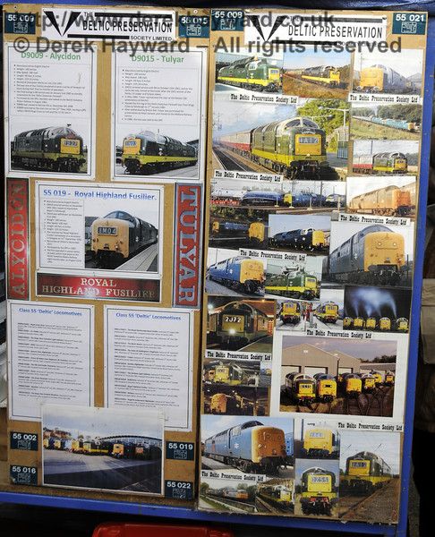 The Deltic Preservation Society stand at Sheffield Park.  19.04.2015  12335
