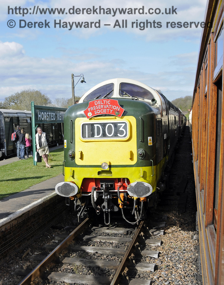 The headboard on D9009 Alycidon.  19.04.2015  12366