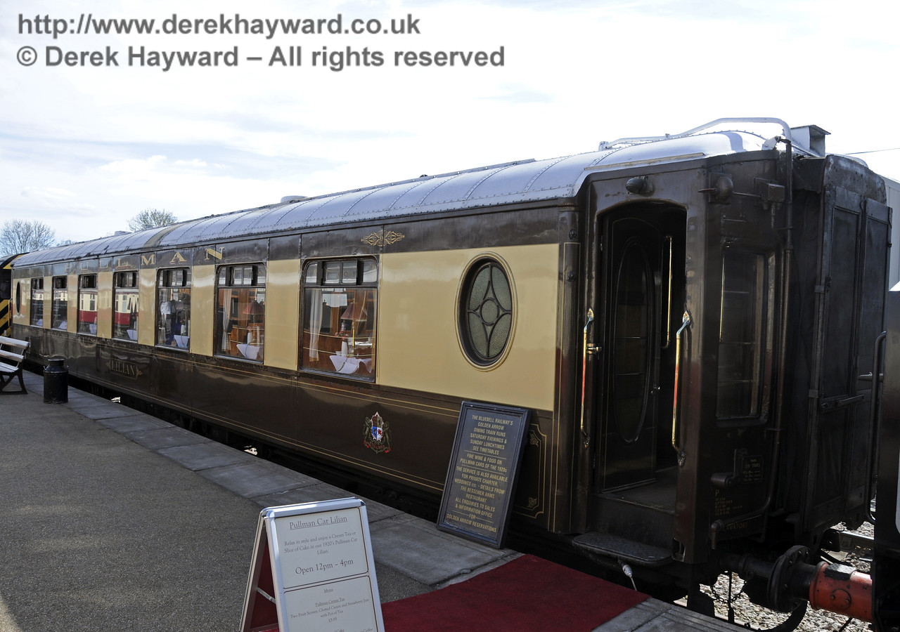 Pullman Car Lilian was being used for cream teas at Sheffield Park.  19.04.2015   12358