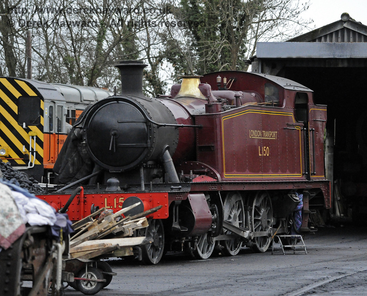 L150 on shed at Sheffield Park.  14.12.2013  8521