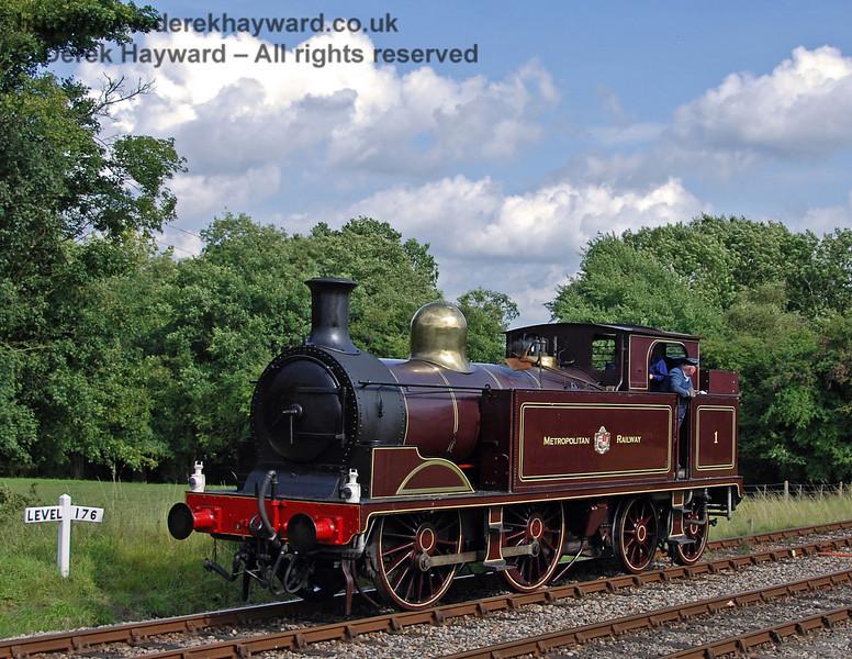 Metropolitan Railway No.1 poses at Kingscote. 28.07.2007