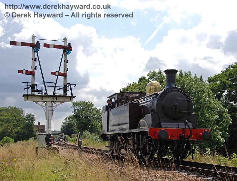 Metropolitan Railway No.1 waits for the signal at Sheffield Park. 28.07.2007
