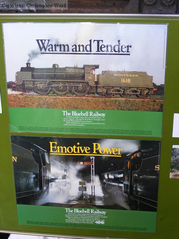 Two of the retro posters on display at Sheffield Park