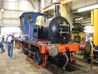 323 Bluebell being overhauled in the works at Sheffield Park