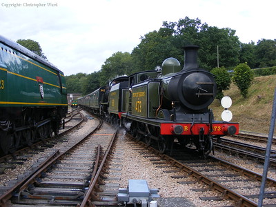 Three very different Southern engines at Horsted Keynes