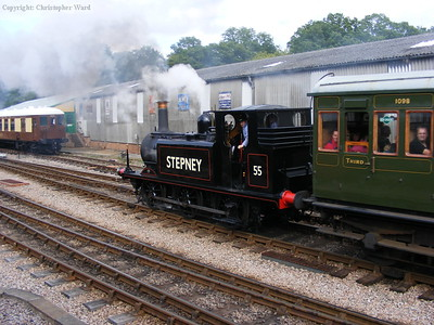 In new black livery, Stepney tails a re-enactment of the first train