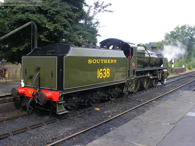 1638 prepares for a light engine run to Horsted
