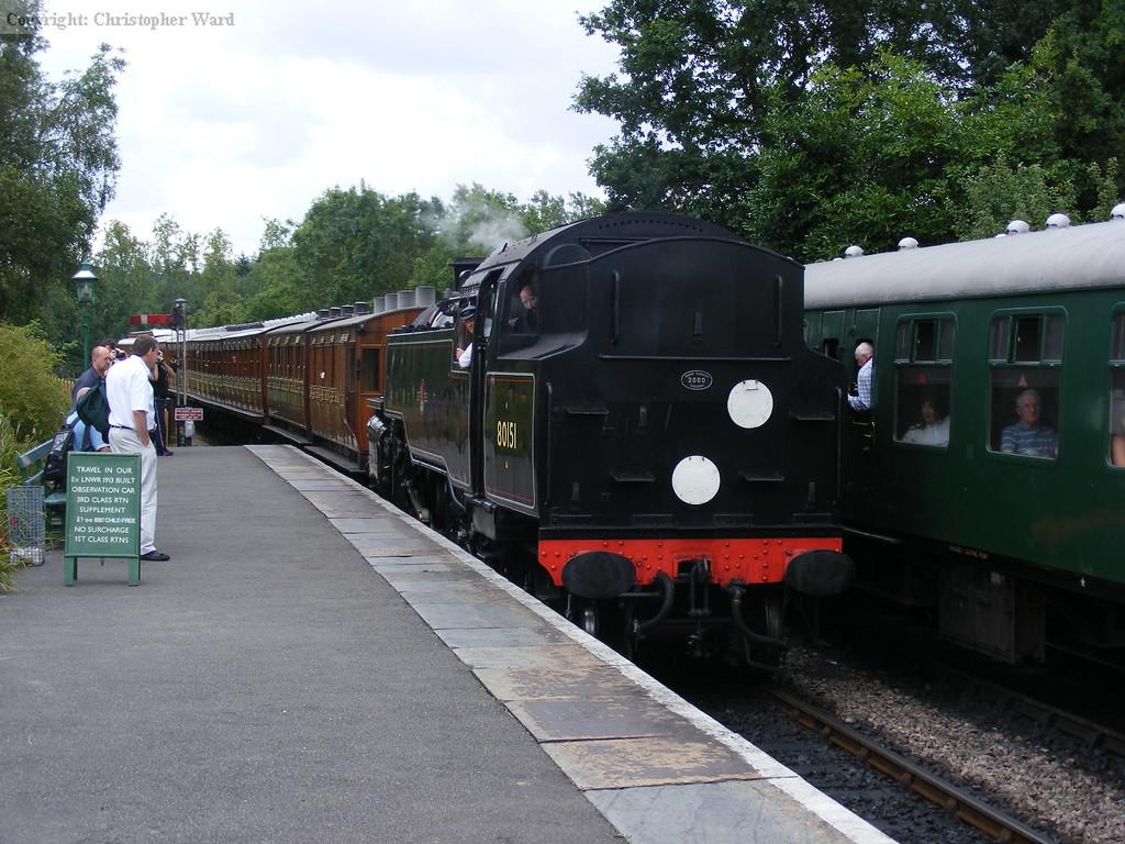 80151 brings a train in