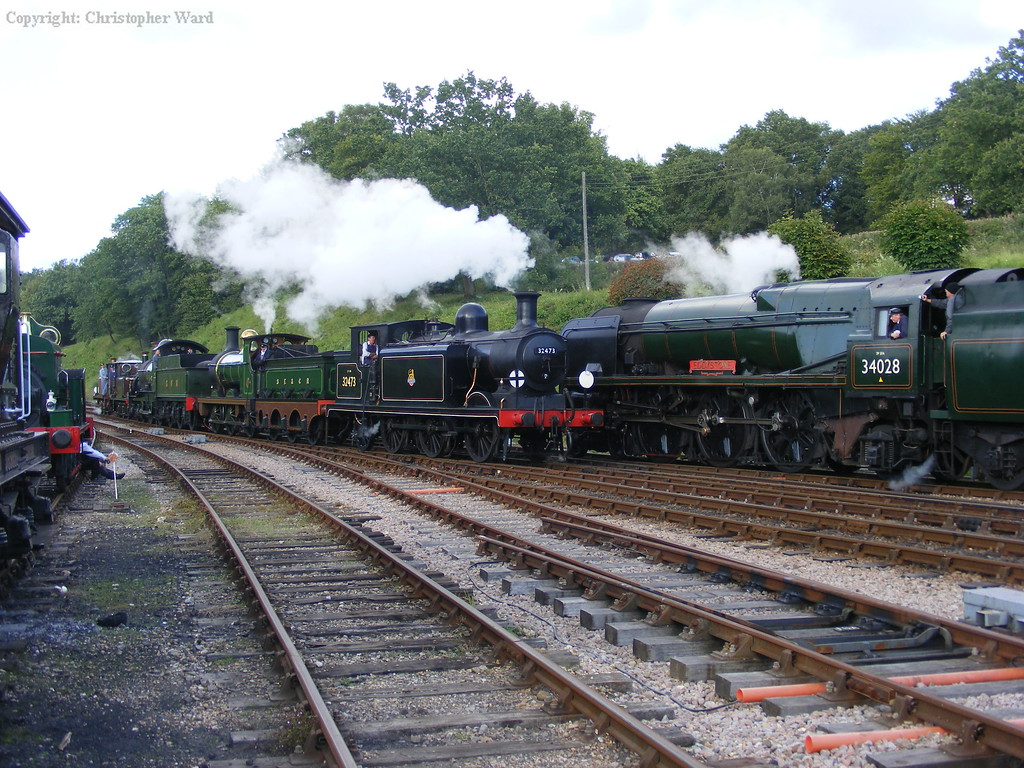 A range of engines of different eras united by survival