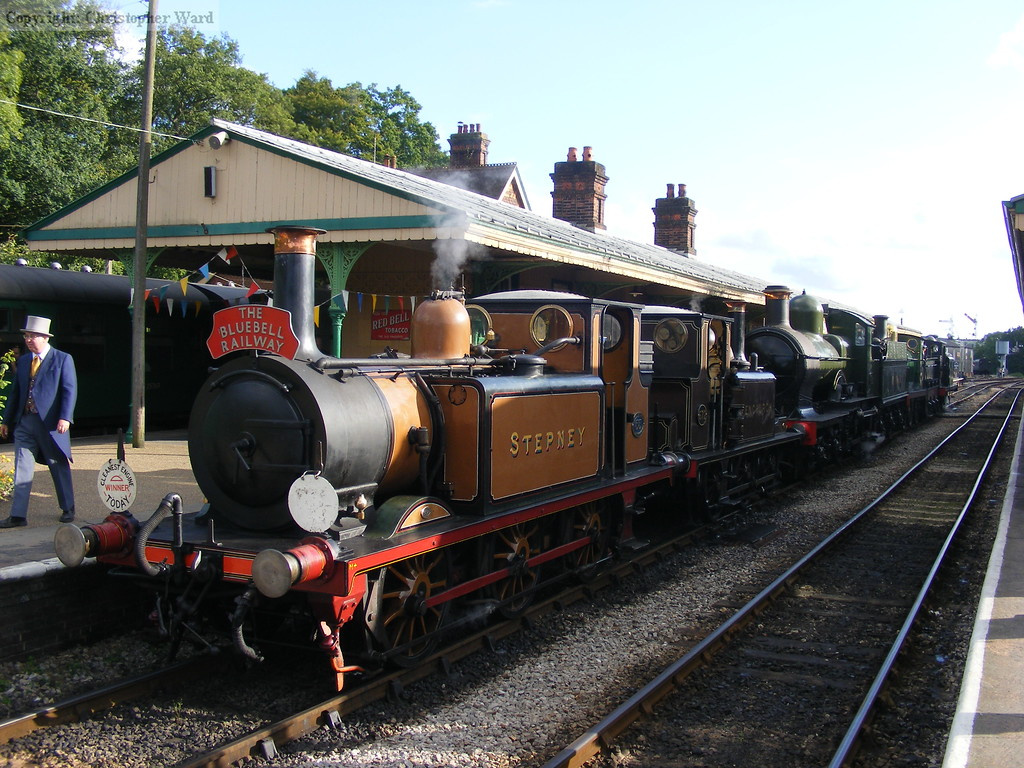Stepney and a line-up of engines prepare to head south