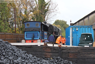 Bluebell on the wash-out pit while 45231 receives some attention