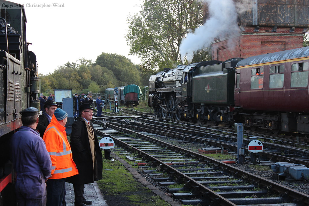 Even the members of the locomotive and workshops departments turned out in force to witness the arrival