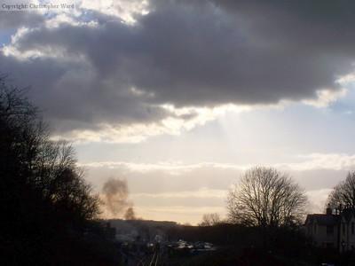 Ominous skies loom over Horsted Keynes