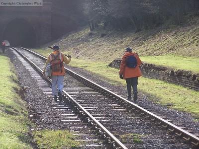 The p-way crew walk the line
